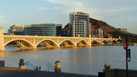 Tempe Town Lake Bridge in Tempe, AZ